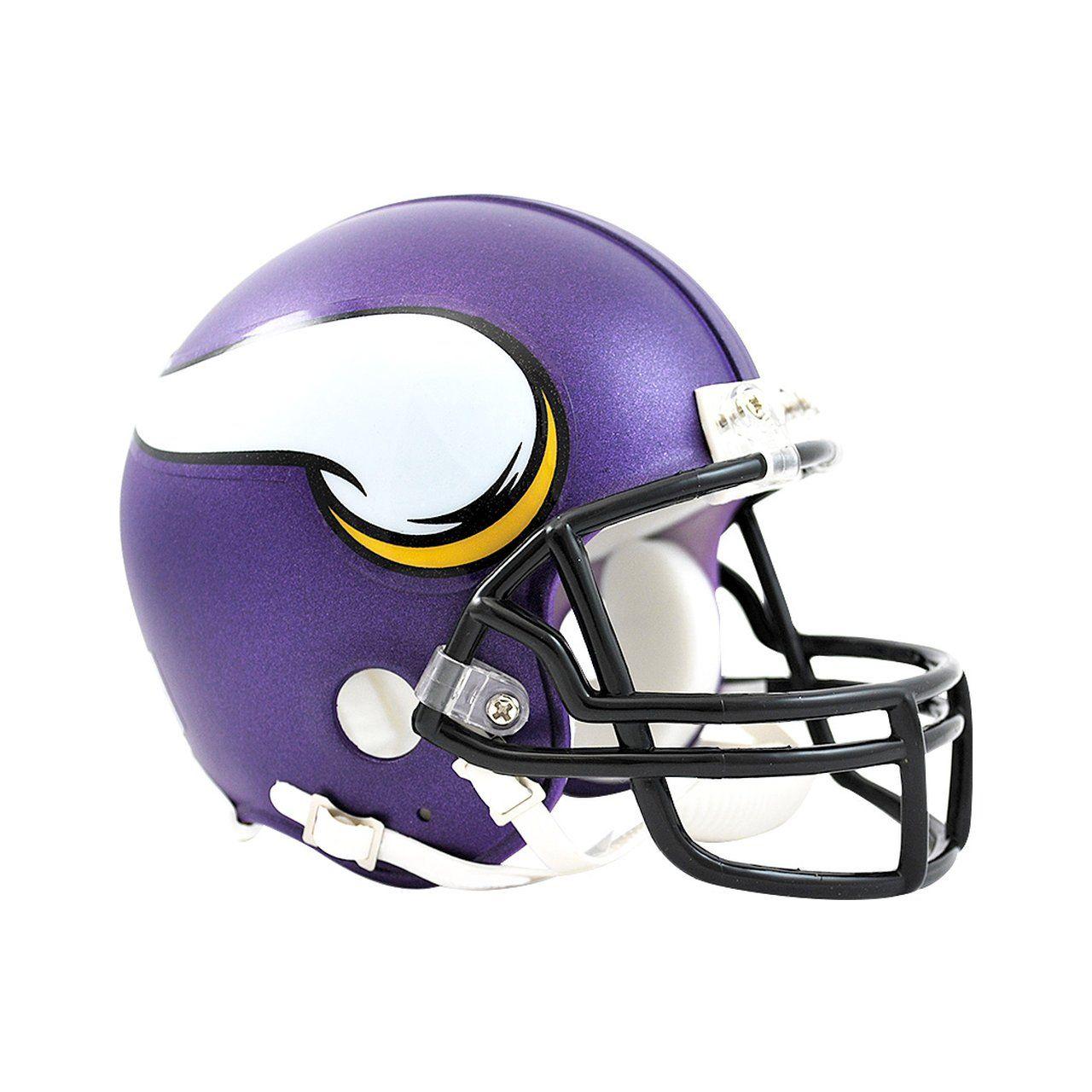 amfoo - Riddell VSR4 Mini Football Helm - NFL Minnesota Vikings