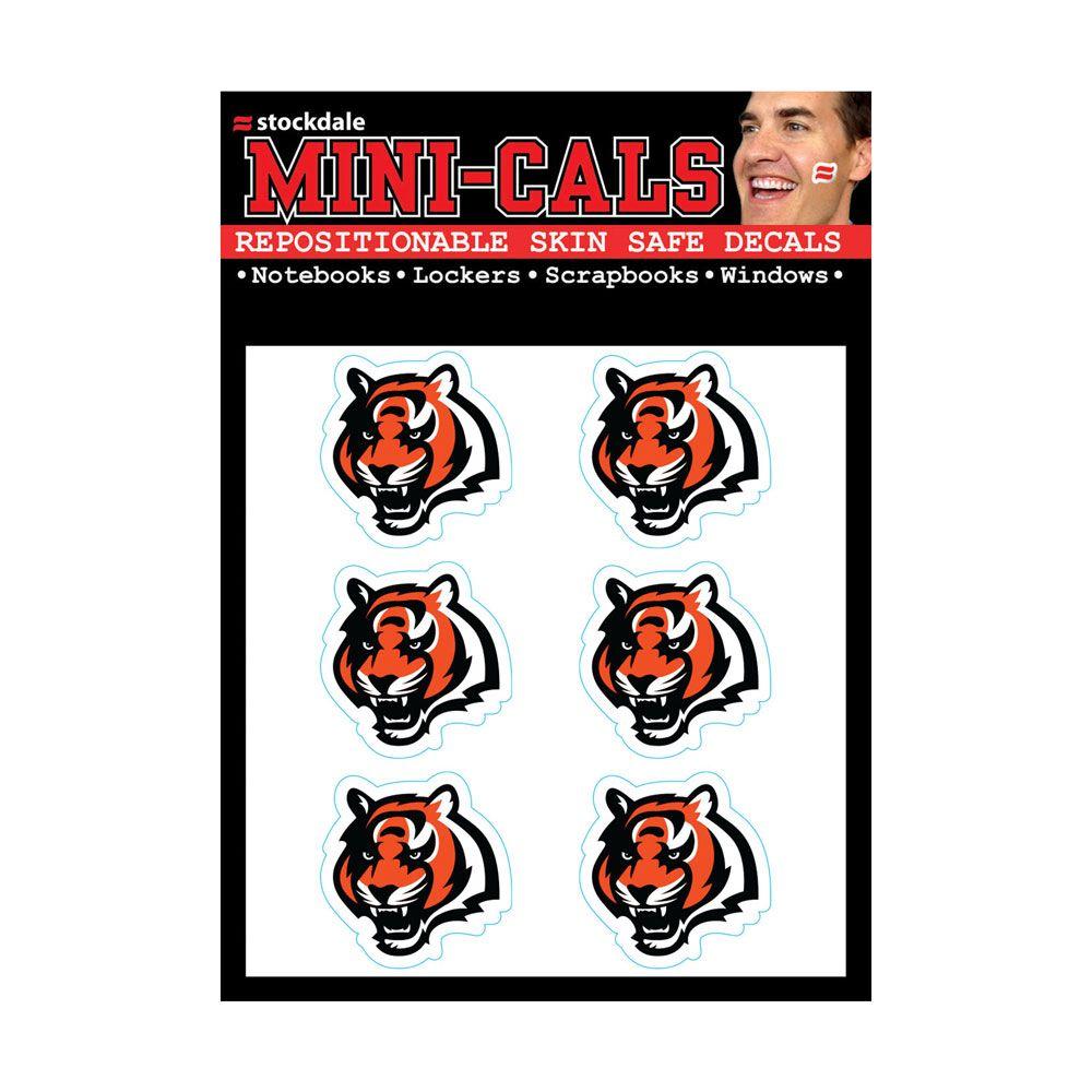 amfoo - Wincraft 6er Gesicht Aufkleber 3cm - NFL Cincinnati Bengals