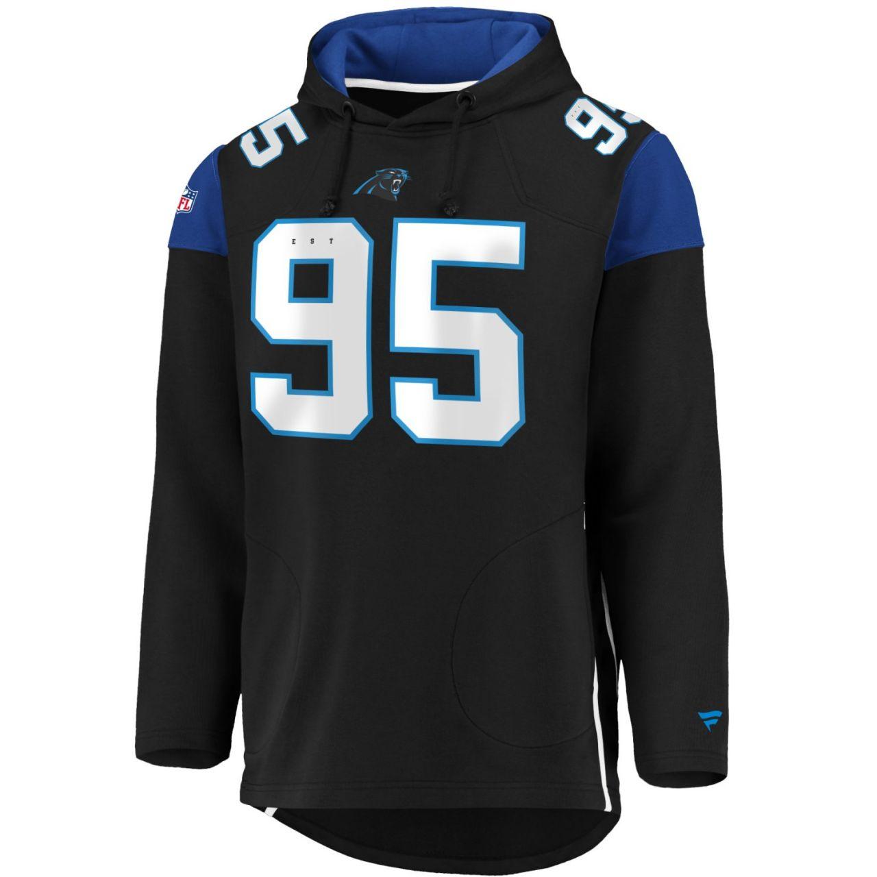 amfoo - Iconic Franchise Long Hoodie - NFL Carolina Panthers