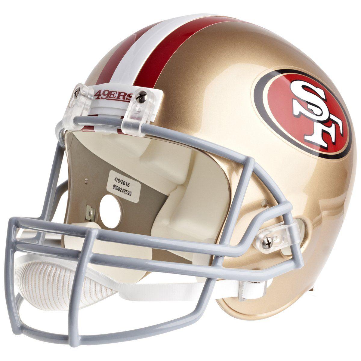 amfoo - Riddell VSR4 Replica Football Helm - NFL San Francisco 49ers