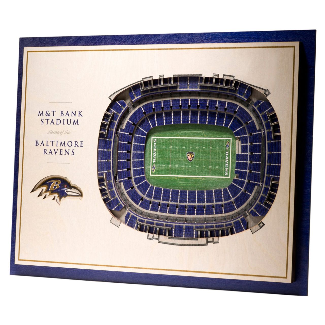 amfoo - YouTheFan Holz Wanddeko Stadion Baltimore Ravens 43x33cm
