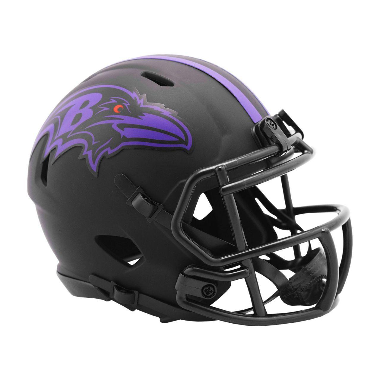 amfoo - Riddell Speed Mini Football Helm - ECLIPSE Baltimore Ravens