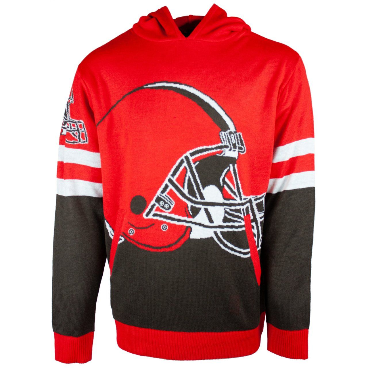 amfoo - NFL Ugly Sweater Big Logo Hoody - Cleveland Browns