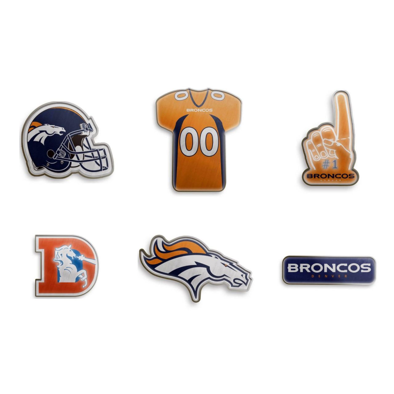 amfoo - Denver Broncos NFL Pin Badge Anstecknadel 6er Set