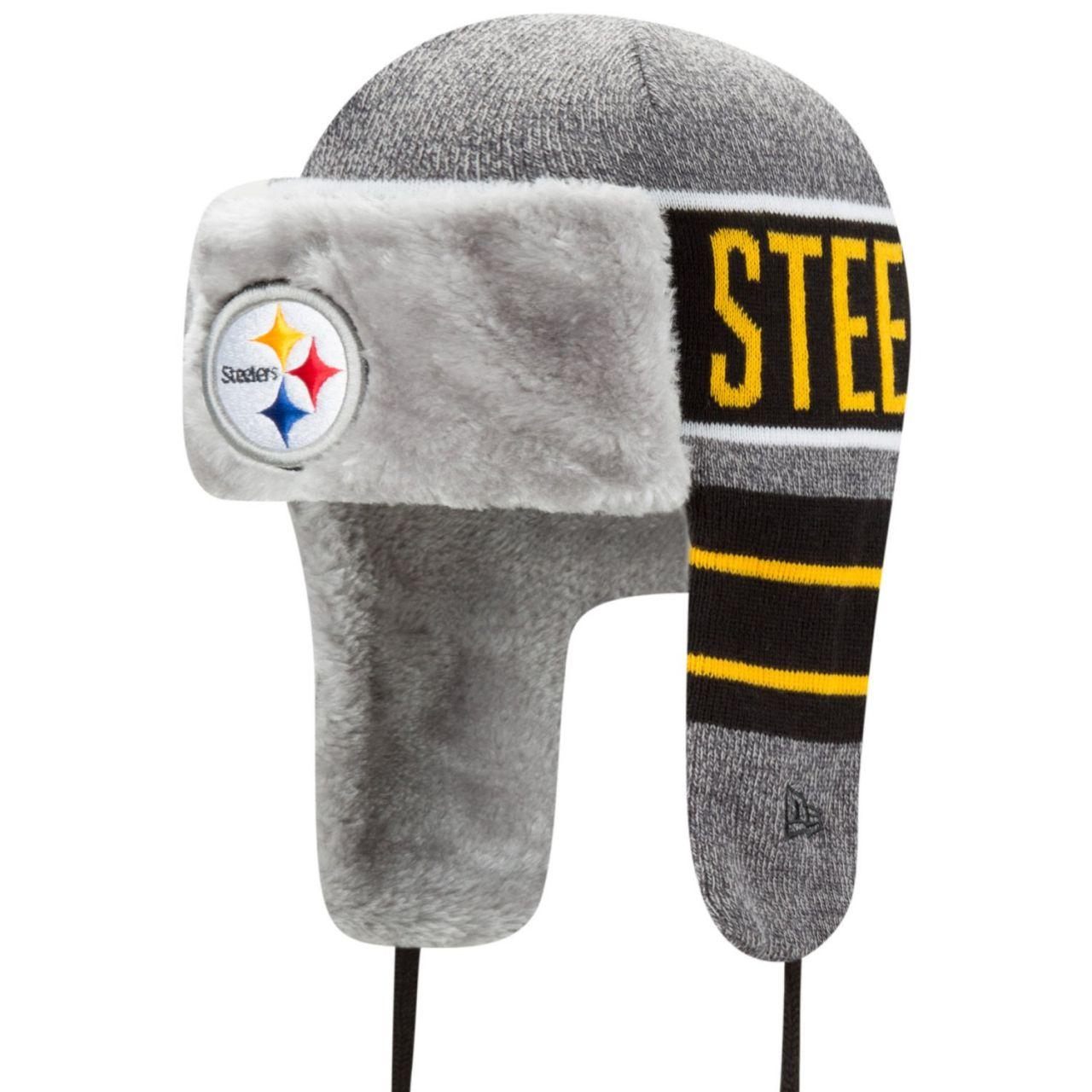 amfoo - New Era Wintermütze FROSTY TRAPPER - Pittsburgh Steelers