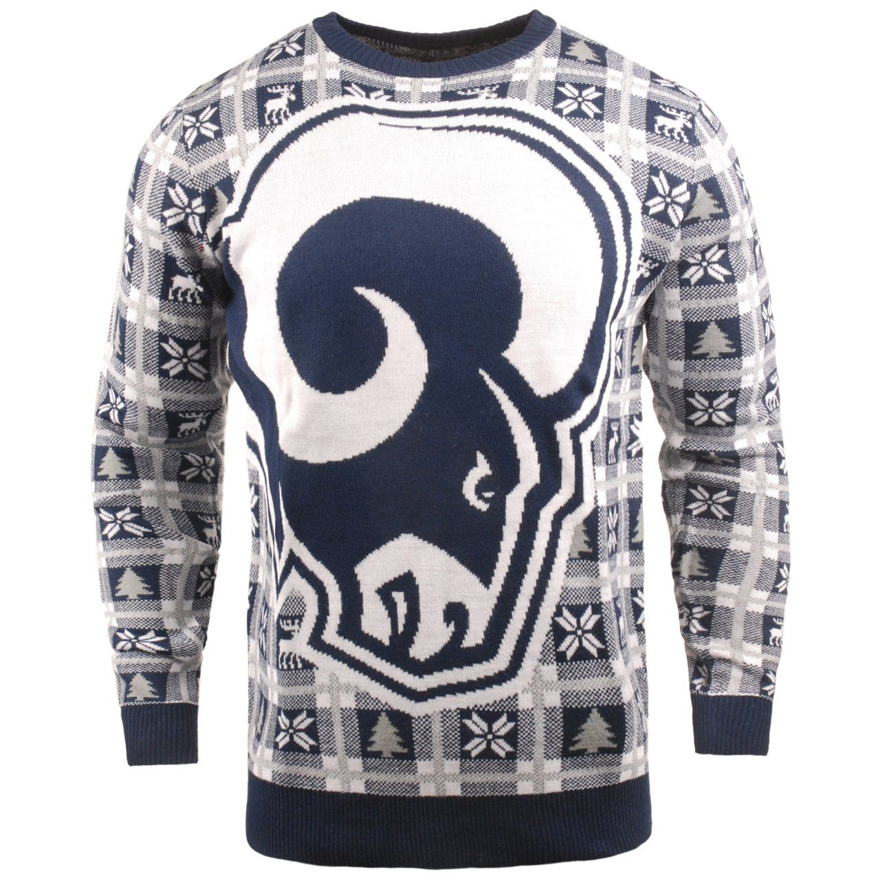 amfoo - NFL Ugly Sweater XMAS Strick Pullover - Los Angeles Rams