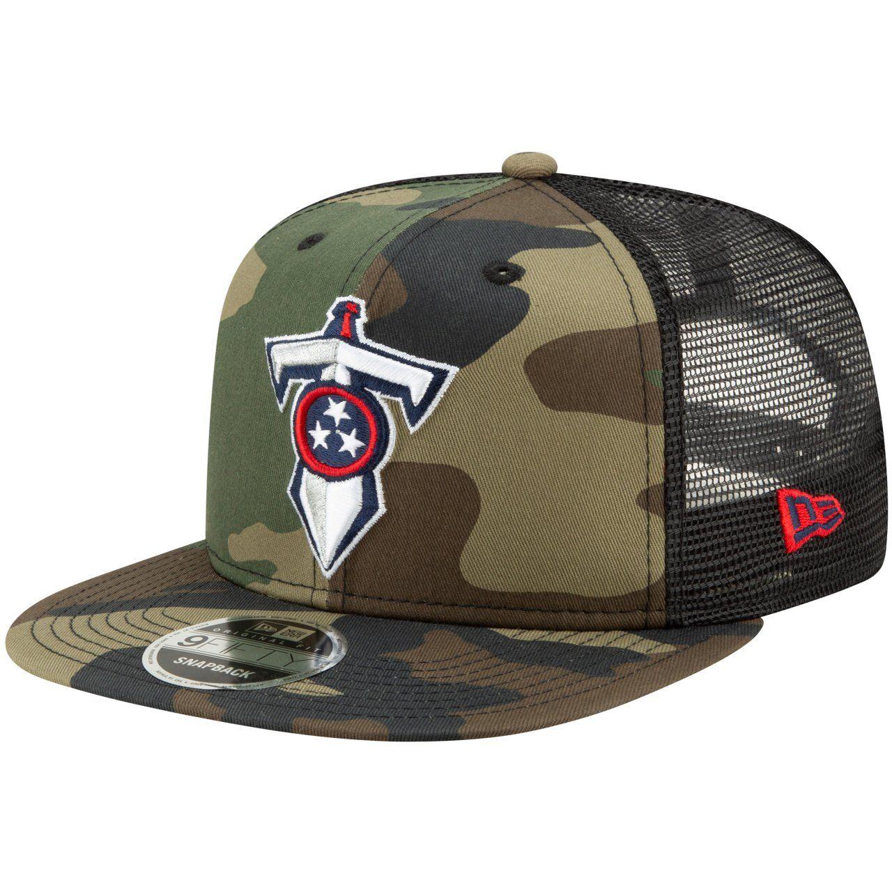 amfoo - Throwback Tennessee Titans Mesh 9Fifty Snapback Cap wood