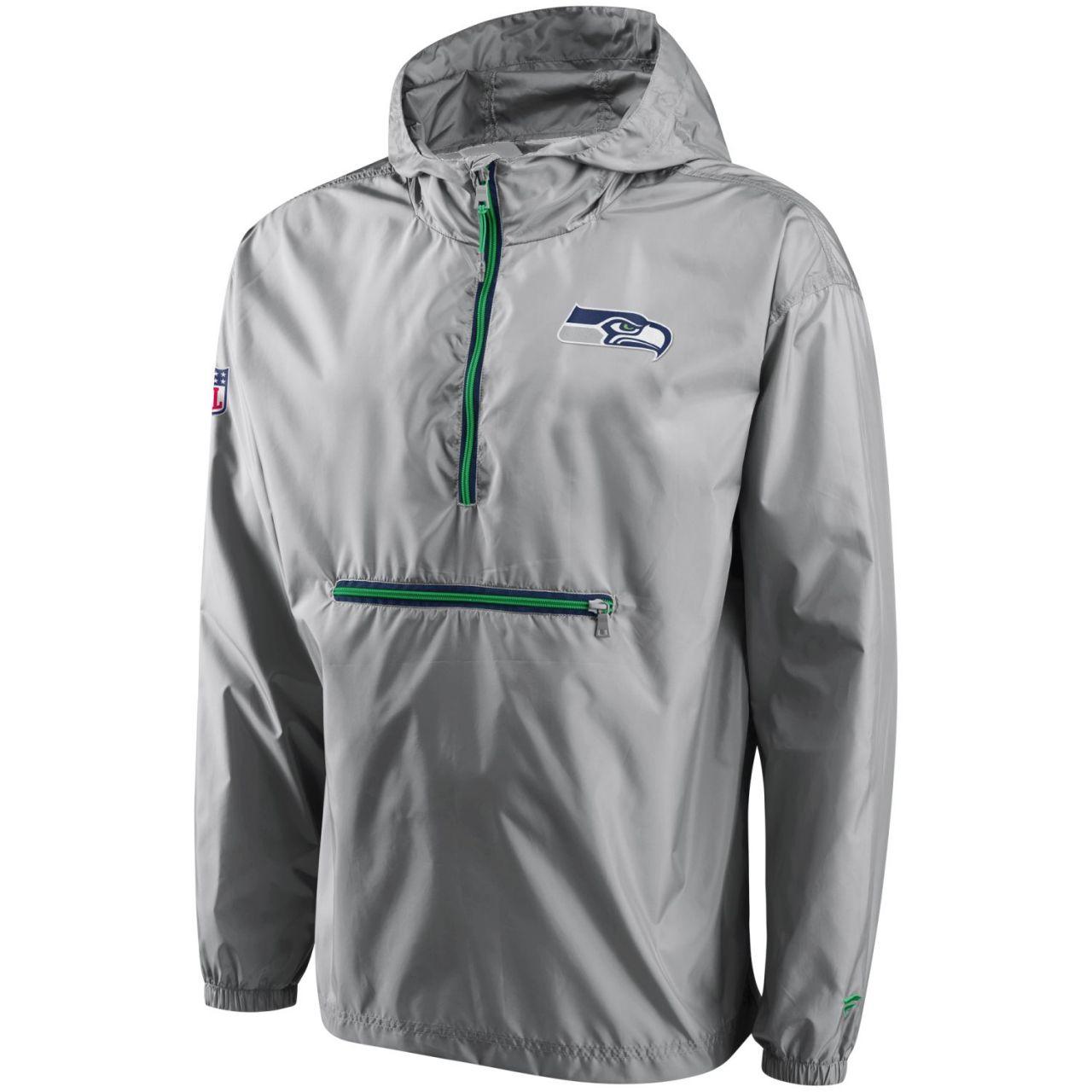amfoo - Seattle Seahawks ICONIC Windbreaker Jacke, verpackbar