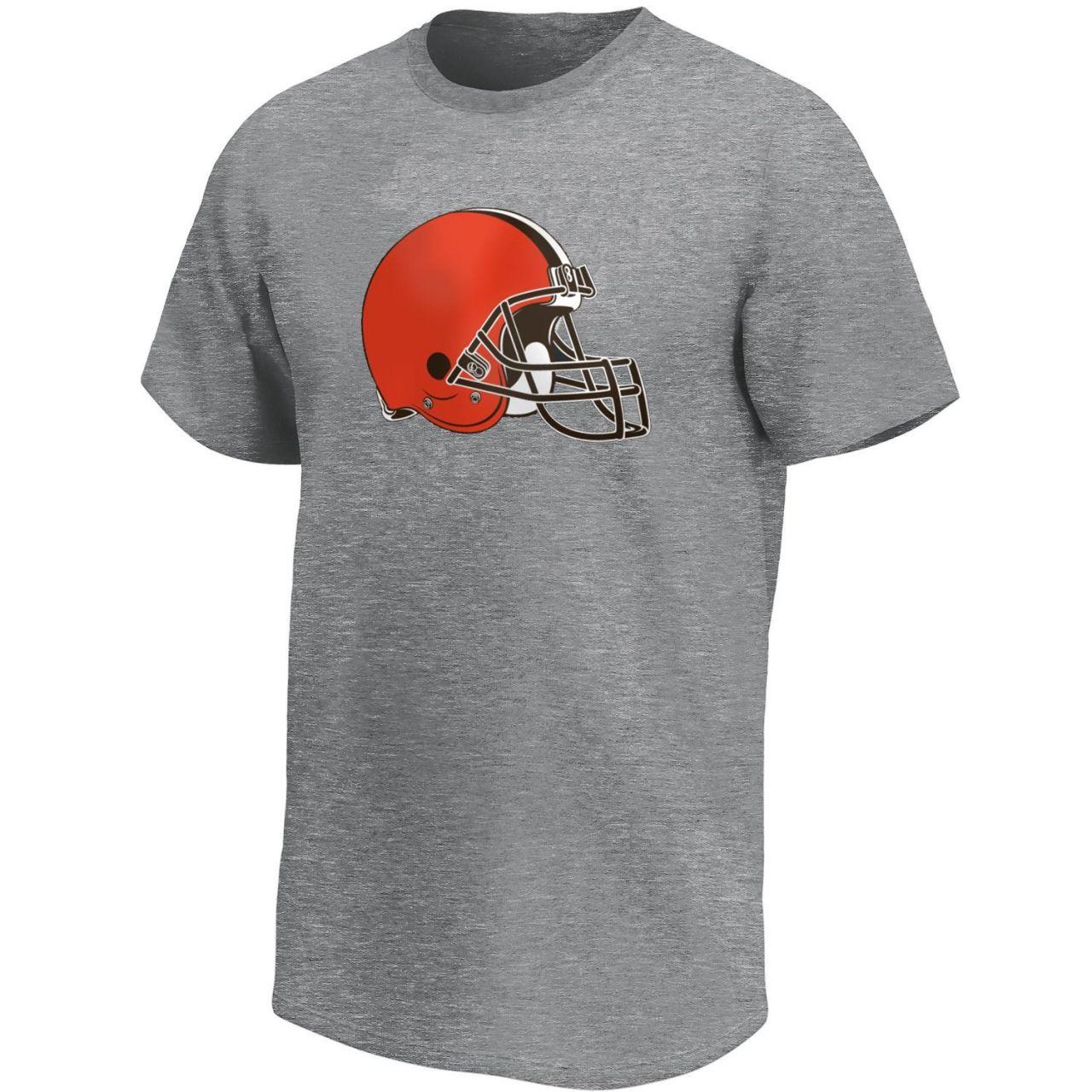 amfoo - Cleveland Browns NFL Fan T-Shirt Iconic Logo grau
