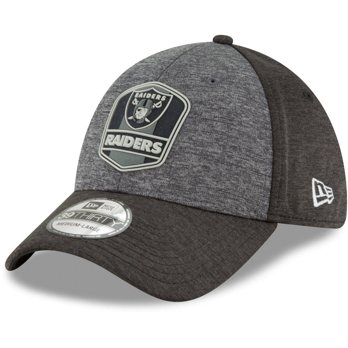 amfoo - New Era 39Thirty Cap - NFL Black Sideline Oakland Raiders