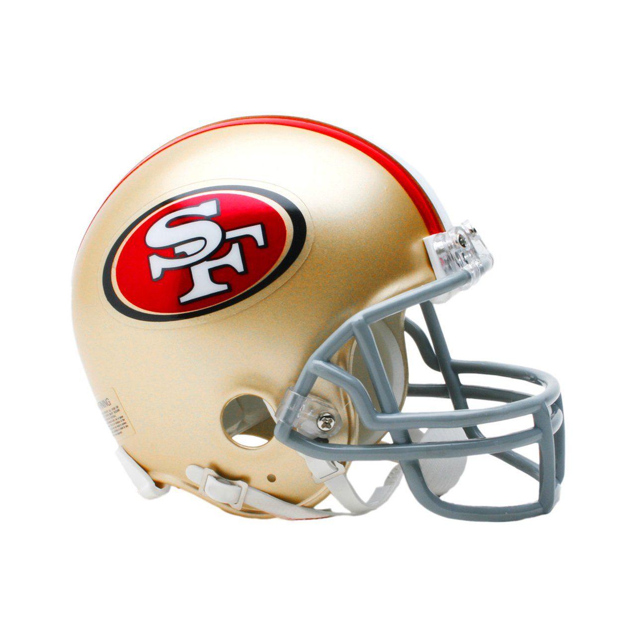 amfoo - Riddell VSR4 Mini Football Helm - NFL San Francisco 49ers