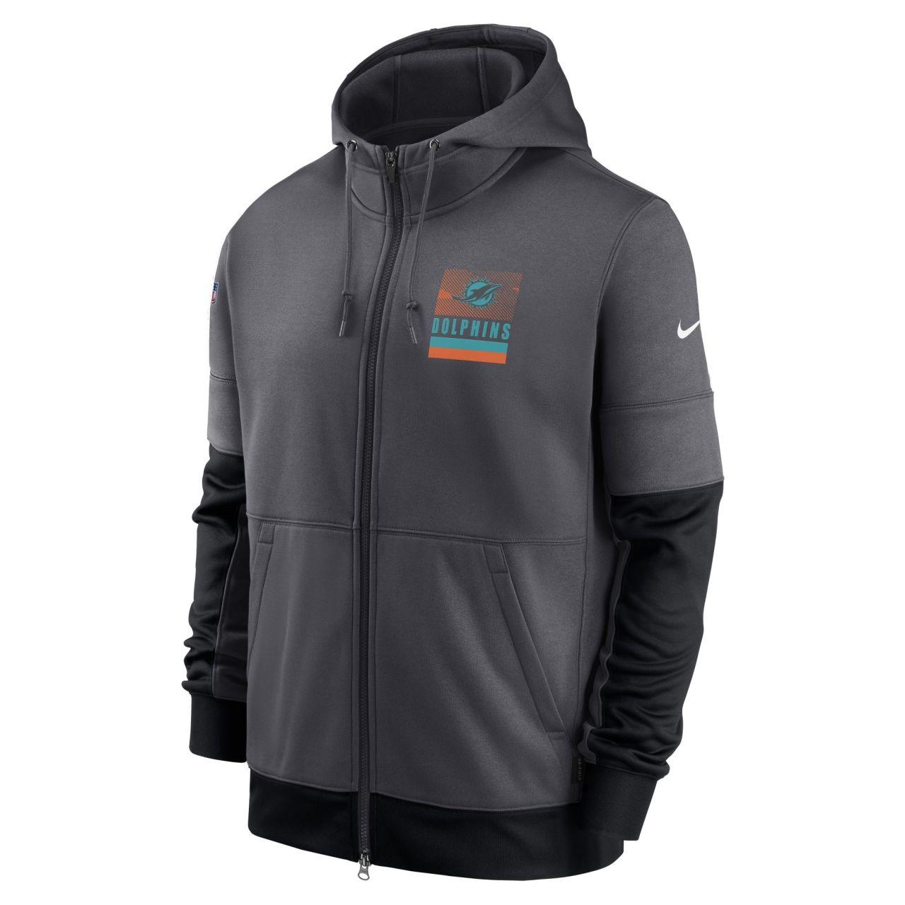 amfoo - Nike NFL Therma Zip Hoody - SIDELINE Miami Dolphins