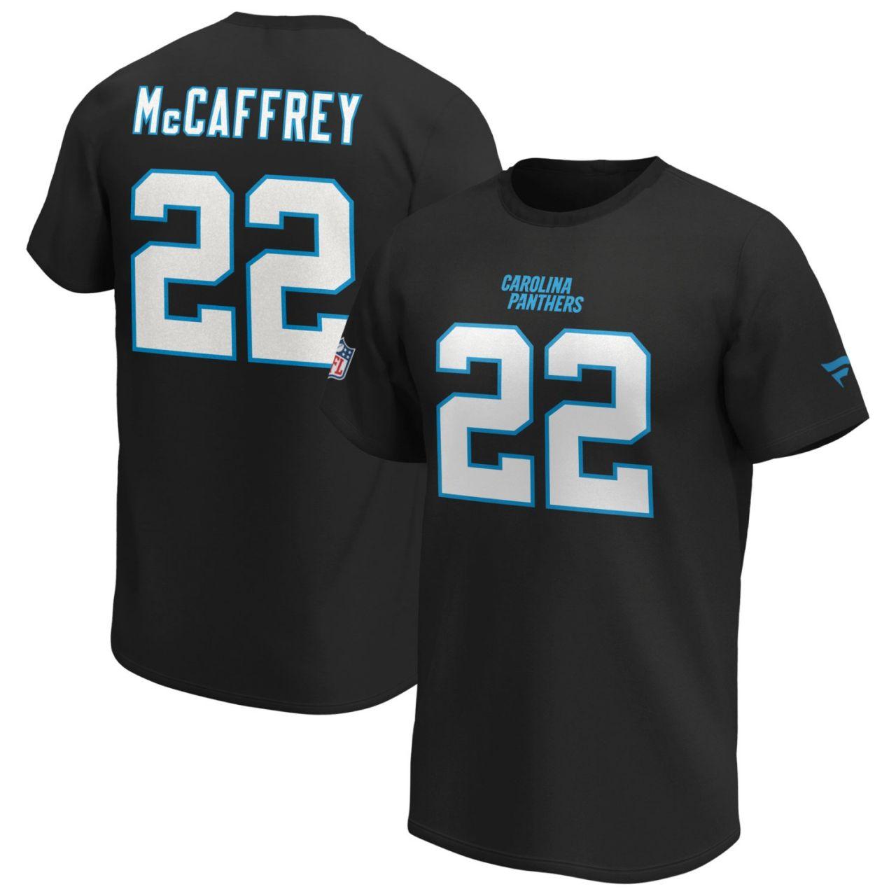 amfoo - Carolina Panthers NFL Shirt #22 Christian McCaffrey