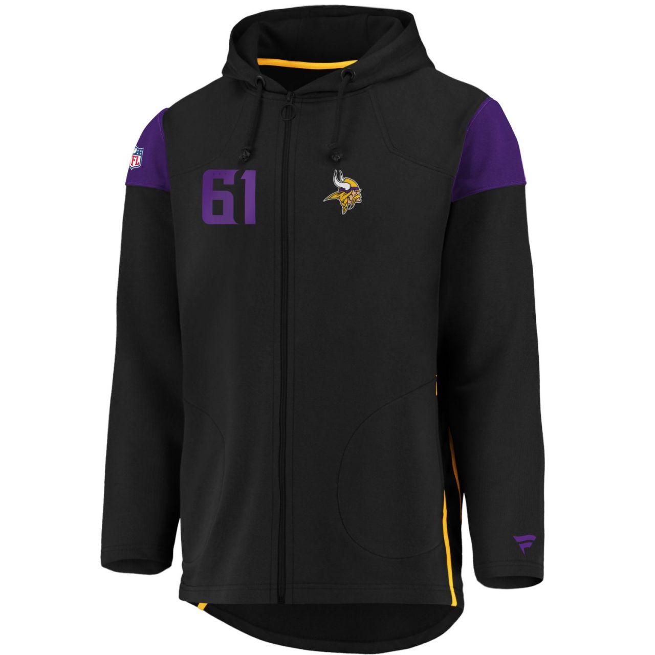 amfoo - Iconic Franchise Full Zip NFL Hoodie - Minnesota Vikings