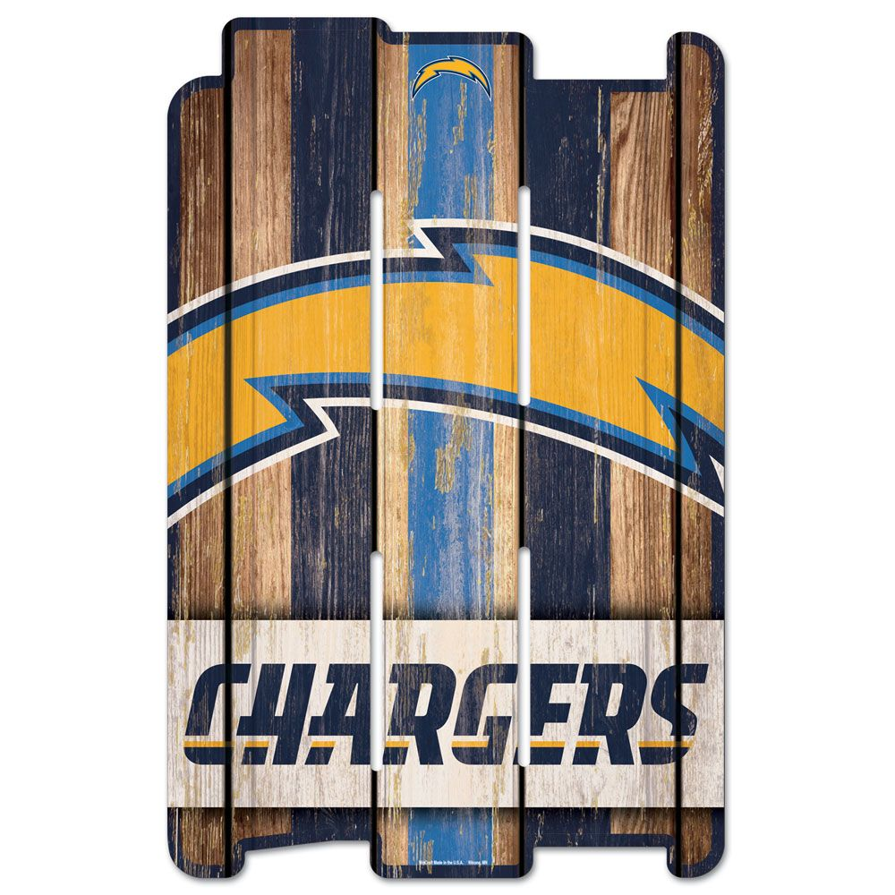 amfoo - Wincraft PLANK Holzschild Wood Sign - Los Angeles Chargers