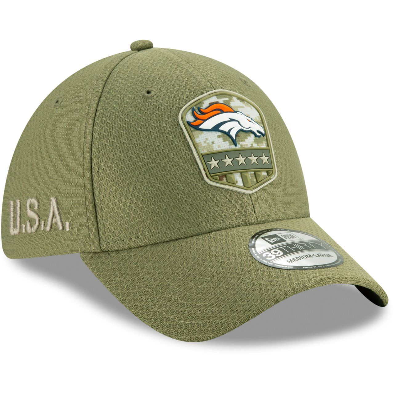 amfoo - New Era 39Thirty Cap Salute to Service Denver Broncos