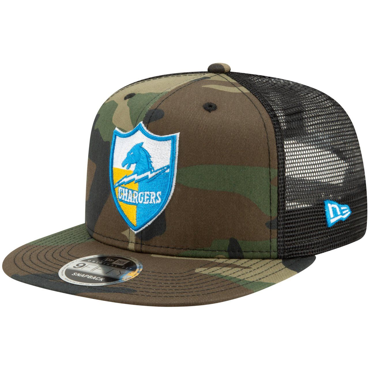 amfoo - Throwback San Diego Chargers Mesh 9Fifty Snapback Cap wood