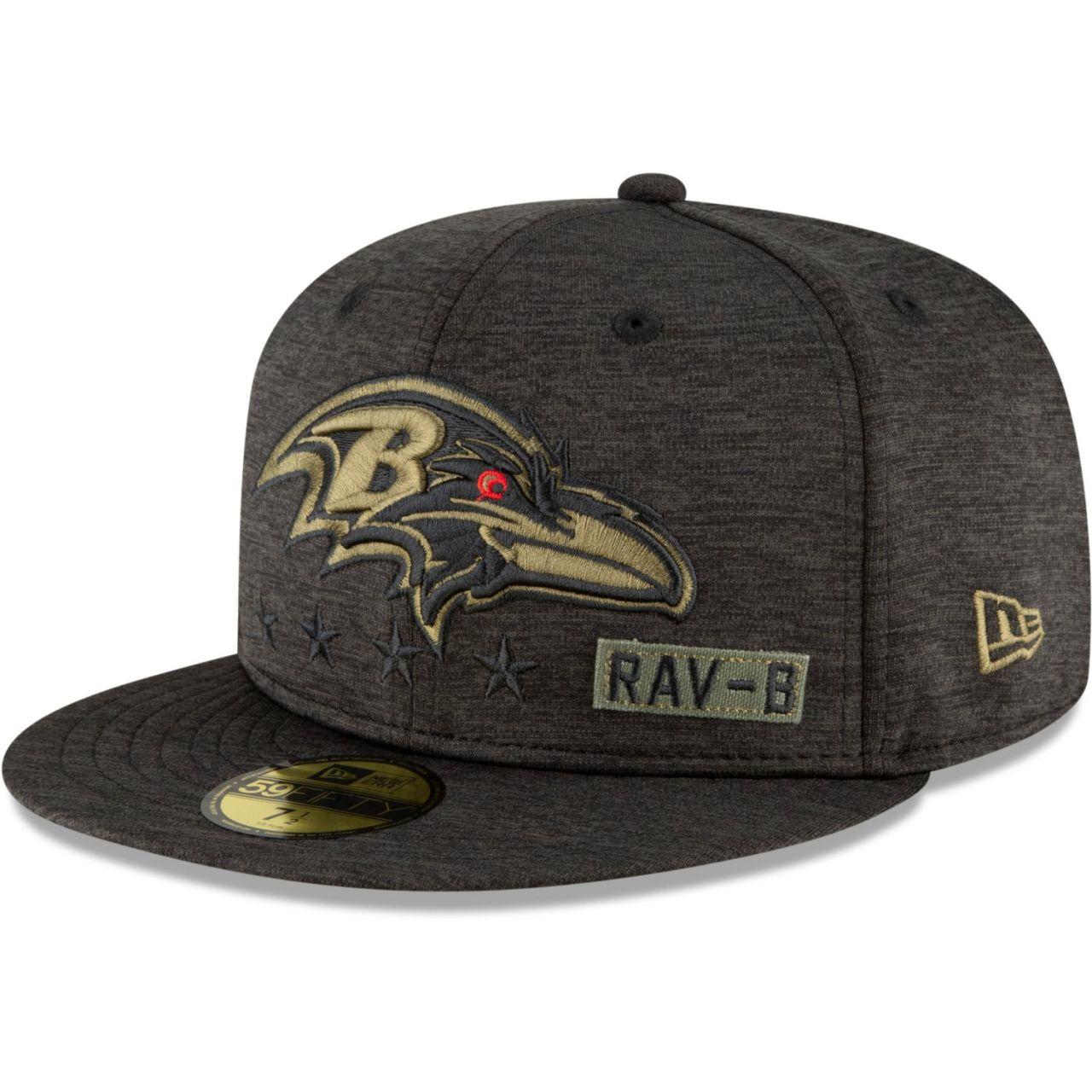 amfoo - New Era 59FIFTY Cap Salute to Service NFL Baltimore Ravens