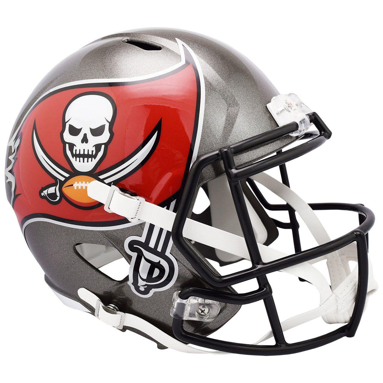amfoo - Riddell Speed Replica Football Helm - Tampa Bay Buccaneers