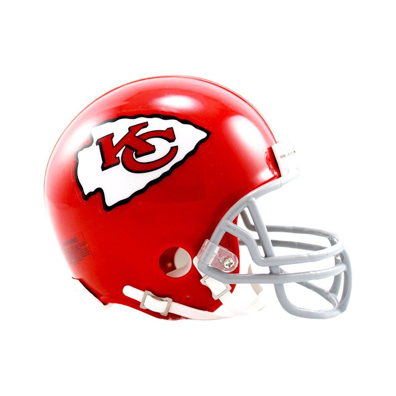 amfoo - Riddell VSR4 Mini Football Helm - Kansas City Chiefs 1963-76