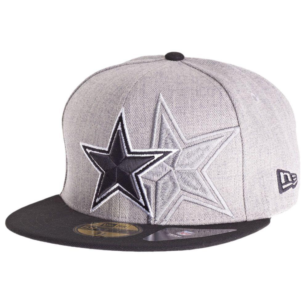 amfoo - New Era 59Fifty Cap - SCREENING Dallas Cowboys grau