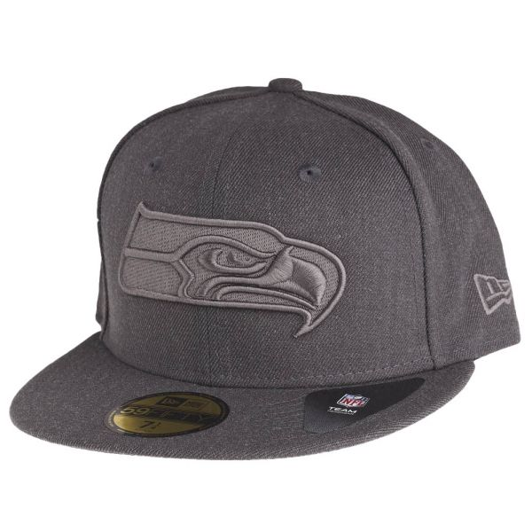 New Era 59Fifty Cap - GRAPHITE Seattle Seahawks grau