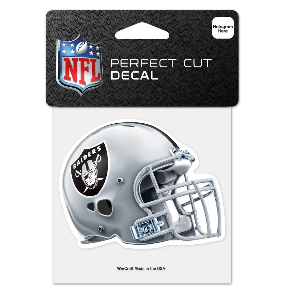 amfoo - Wincraft Helm Aufkleber 10x10cm - NFL Oakland Raiders