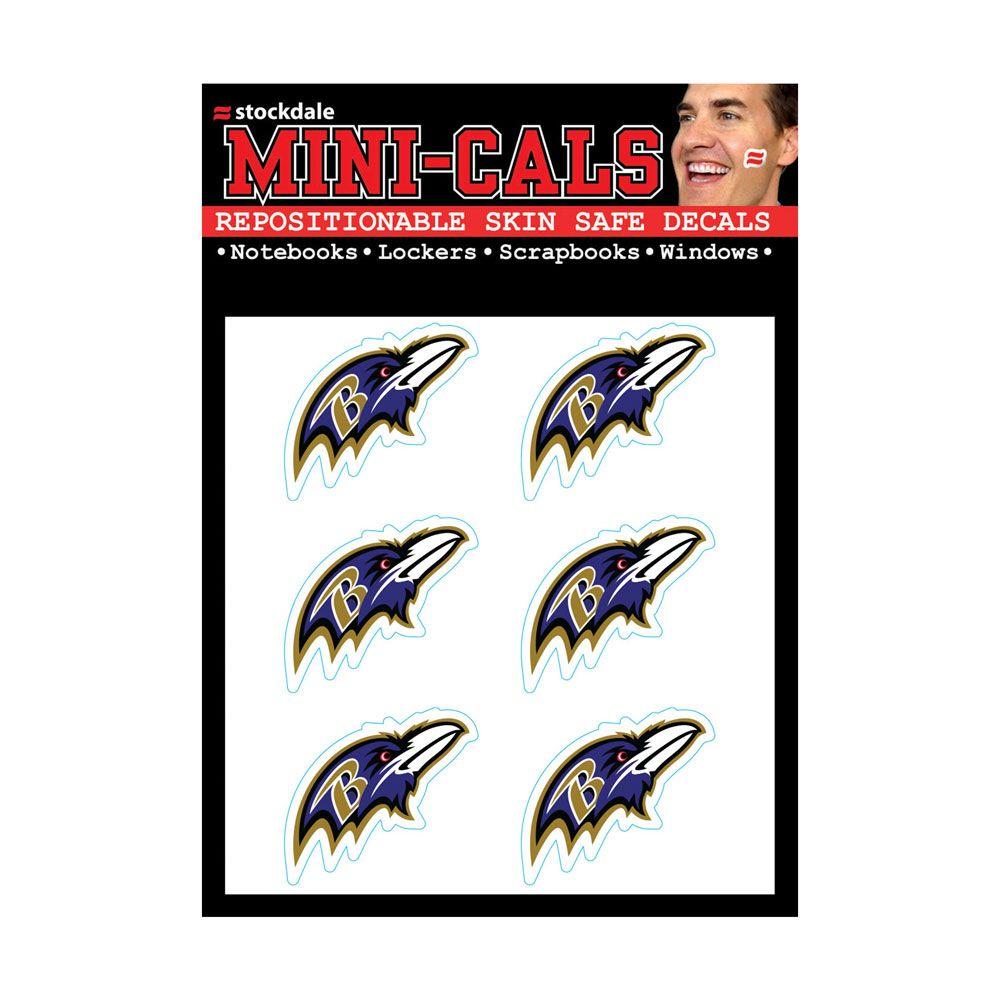 amfoo - Wincraft 6er Gesicht Aufkleber 3cm - NFL Baltimore Ravens