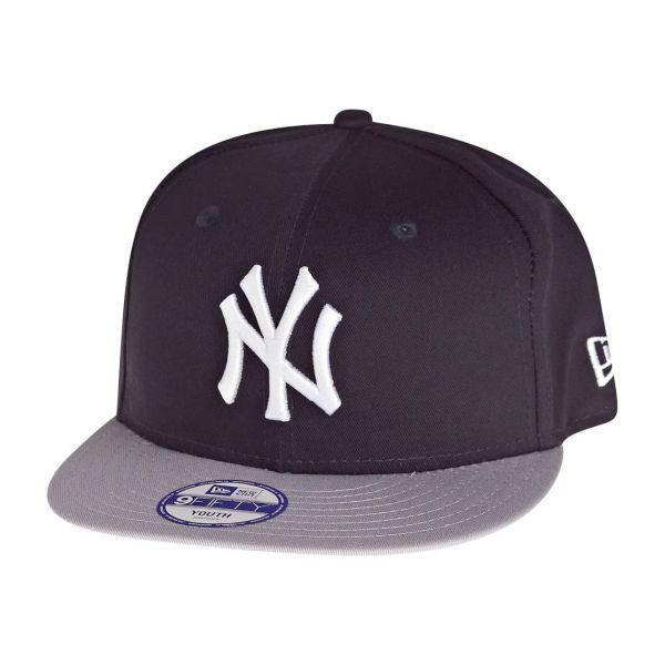 New Era 9Fifty Snapback KIDS Cap - NY Yankees navy / grau