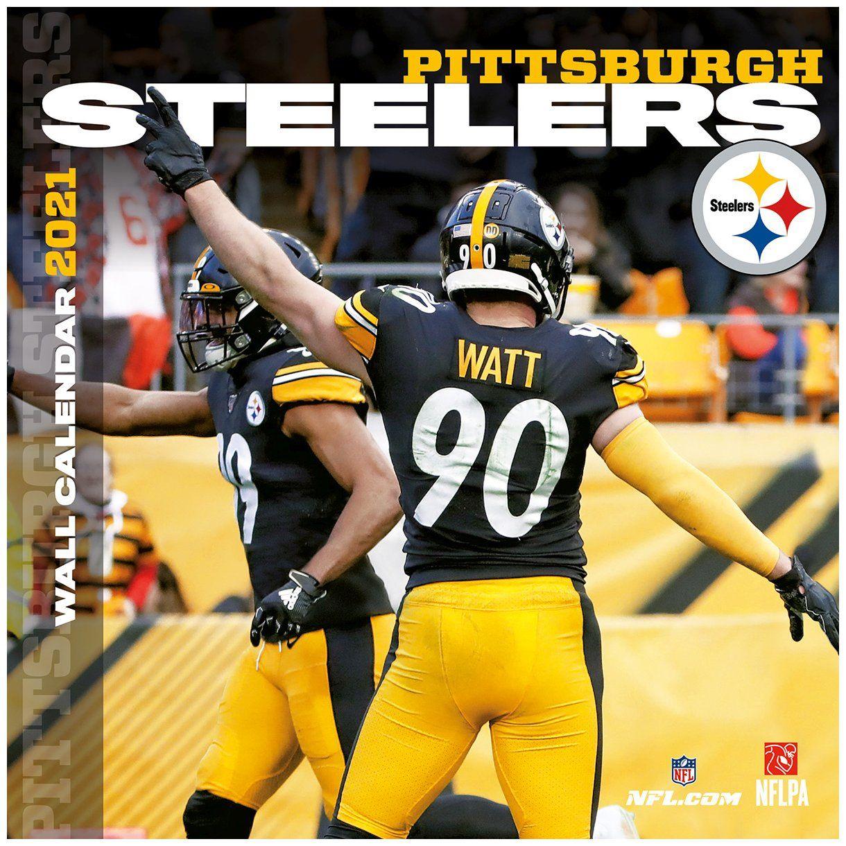 amfoo - Turner NFL 30x30cm Wand-Kalender 2021 Pittsburgh Steelers