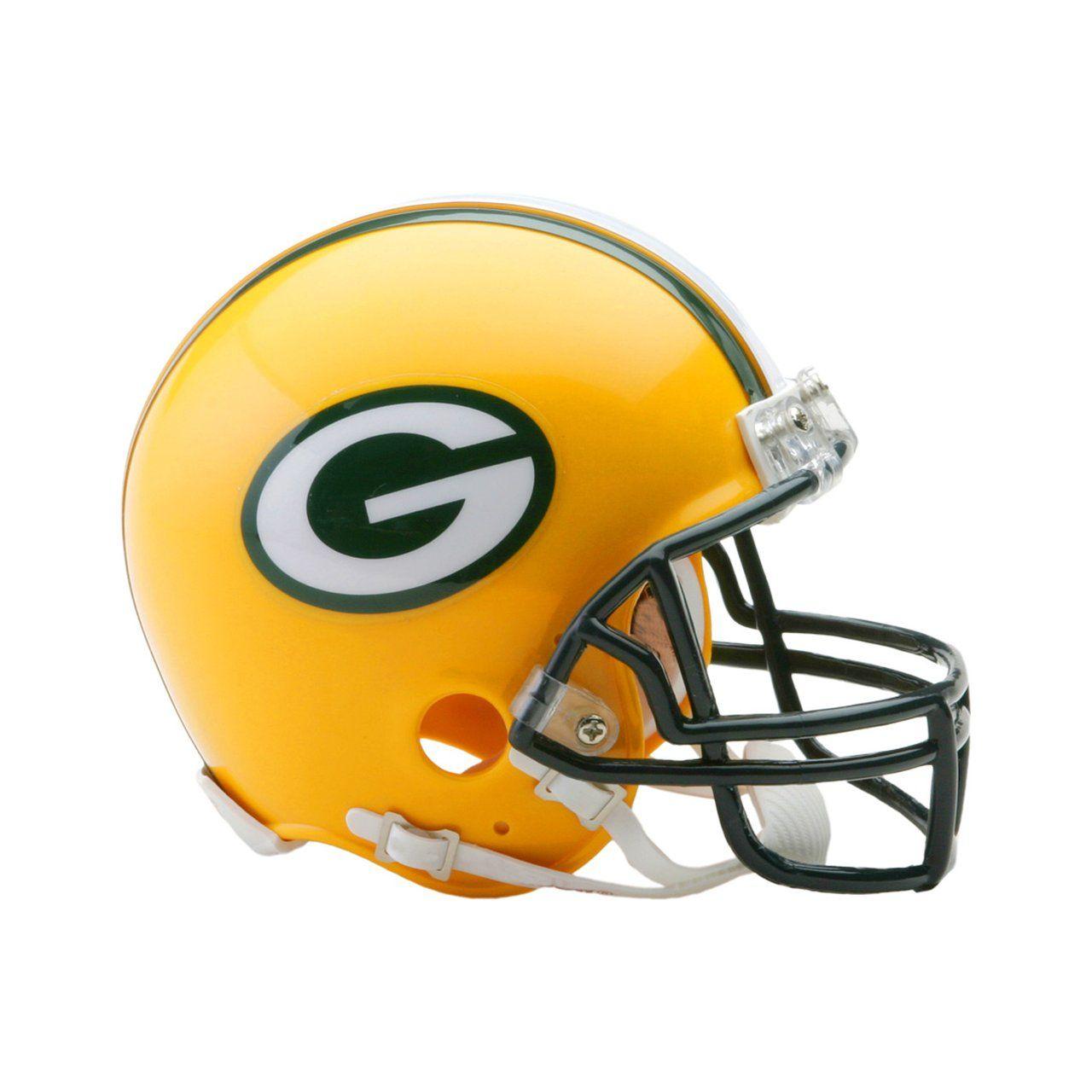 amfoo - Riddell VSR4 Mini Football Helm - NFL Green Bay Packers